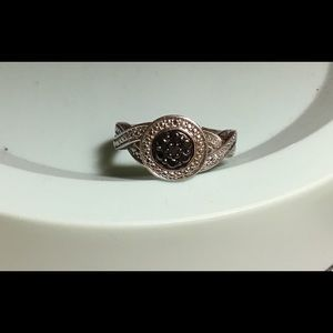 Nice grey black and silver ring